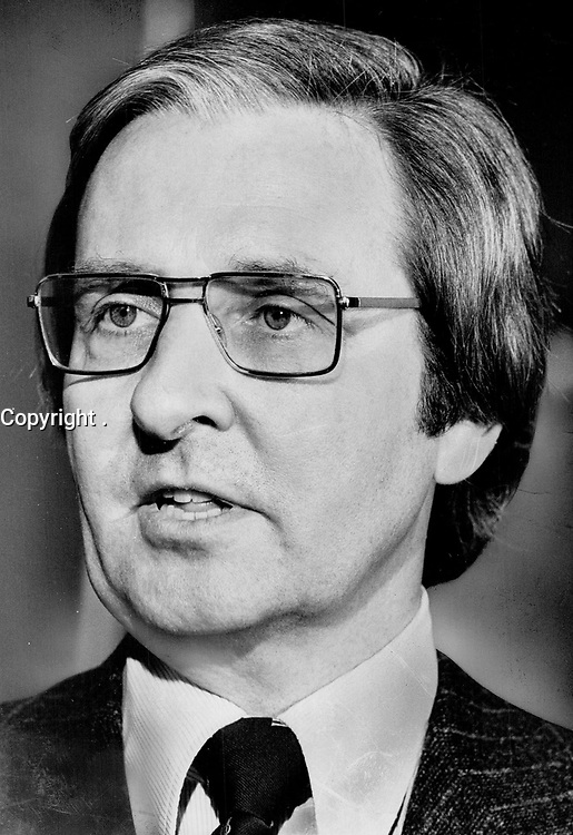 1978 FILE PHOTO - ARCHIVES -<br /> <br /> Quebec lawyer and politician Richard Holden<br /> <br /> PHOTO : Ron BULL - Toronto Star Archives - AQP