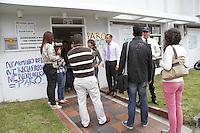 MANIZALES-COLOMBIA. 20-05-2013. Aspecto del paro en el Instituto de Medicina Legal en Manizales / Strike Instute of Legal Medicine of Manizales. (Photo: VizzorImage/Yonboni/STR)