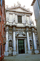 Venice:  Church of the Jesuits, 18th Century.  Baroque style.  Photo '83.