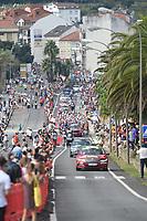 4th September 2021; Sanxenxo to Castro De Herville De Mos, Pontevedra, Spain; stage 20 of Vuelta a Espanya cycling tour; Pelethon in Sanxenxo