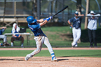Los Angeles Dodgers infielder Sam McWilliams (9) follows through on his swing during an Instructional League game against the San Diego Padres at Camelback Ranch on September 25, 2018 in Glendale, Arizona. (Zachary Lucy/Four Seam Images)