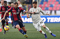 Danilo of Bologna , Rodrigo Bentancur of Juventus <br /> Bologna 24-02-2019 Stadio Dall'Ara <br /> Football Serie A 2018/2019 Bologna - Juventus<br /> Foto Image Sport / Insidefoto