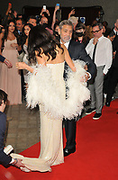 """Amal Clooney and George Clooney at the 65th BFI London Film Festival """"The Tender Bar"""" American Express gala, Royal Festival Hall, Belvedere Road, on Sunday 10th October 2021, in London, England, UK. <br /> CAP/CAN<br /> ©CAN/Capital Pictures"""