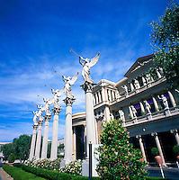 Las Vegas, Nevada, USA - Angels blowing Trumpets at Caesars Palace along The Strip (Las Vegas Boulevard)