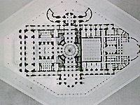 Plan of Paris Opera by Charles Garnier.
