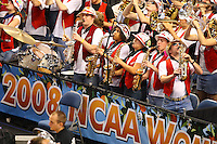 6 April 2008: Stanford Cardinal band during Stanford's 82-73 win against the Connecticut Huskies in the 2008 NCAA Division I Women's Basketball Final Four semifinal game at the St. Pete Times Forum Arena in Tampa Bay, FL.