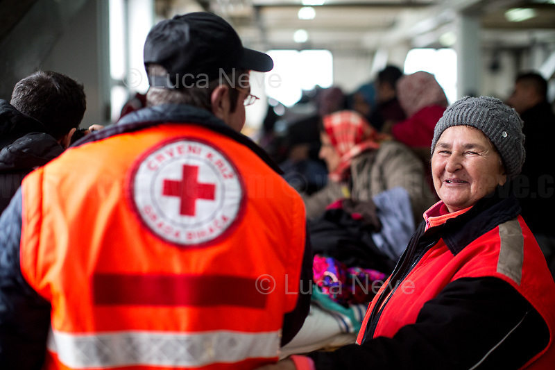 Bosnia. Unknon, Bosnian Red Cross Workers.<br />