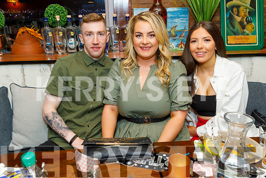 Cian Connor, Shauna Moriarty and Tamara Foley enjoying the evening in Benners Hotel on Saturday
