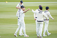 James Harris, Middlesex CCC celebrates the wicket of Craig Braithwaite, Gloucestershire CCC during Middlesex CCC vs Gloucestershire CCC, LV Insurance County Championship Group 2 Cricket at Lord's Cricket Ground on 7th May 2021