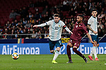 Argentina's Leo Messi and Venezuela's Yangel herrera during International Adidas Cup match between Argentina and Venezuela at Wanda Metropolitano Stadium in Madrid, Spain. March 22, 2019. (ALTERPHOTOS/A. Perez Meca)