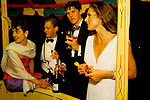 May Ball Oxford University. Magdalen College students. Funfair in college grounds. 1986 1980s UK