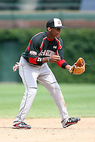 August 18 2008:  Mychal Givens (29) of the Baseball Factory team during the 2008 Under Armour All-American Game at Wrigley Field in Chicago, IL.  Photo by:  Mike Janes/Four Seam Images