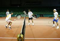 18-9-07, Rotterdam, Daviscup NL-Portugal, training Portugal team