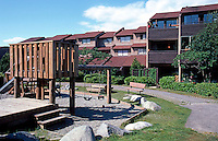 Vancouver: False Creek Tour--Enclosed area and small play space off Forge Walk.  Photo '86.