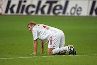 Lukas Sinkiewicz (Bayer Leverkusen) niedergeschlagen