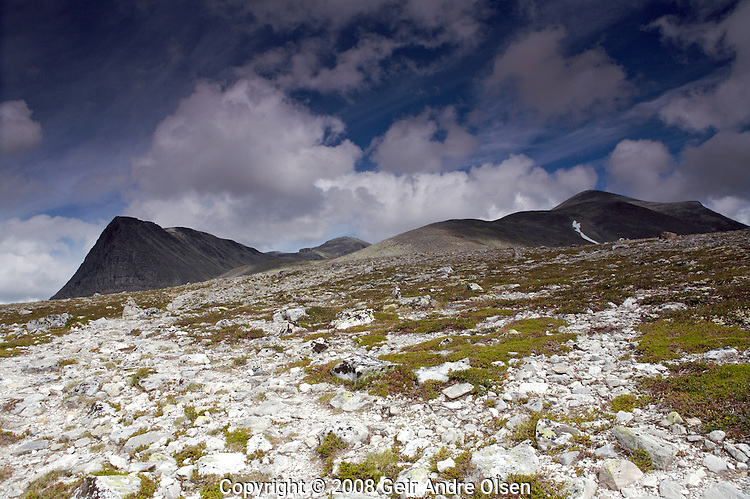 View of Storronden at Rondane National Park, Norway