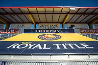 HERRIMAN, UT - JULY 4: Utah Royals FC banner during a game between Sky Blue FC and Utah Royals FC at Zions Bank Stadium on July 4, 2020 in Herriman, Utah.