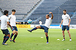 Players of BURIRAM UNITED (THA) in action during a training session on 04 April 2016, one day before the 2016 AFC Champions League Group F Match Day 4 match between BURIRAM UNITED (THA) vs SANFRECCE HIROSHIMA (JPN) in Buriram, Thailand.