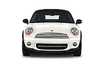 Car photography straight front view of a 2015 MINI Mini Cooper 2 Door Coupe Front View