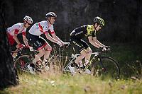 Mikel Nieve (ESP/Mitchelton-Scott) leading the way<br /> <br /> Stage 7: Nice to Col de Turini (181km)<br /> 77th Paris - Nice 2019 (2.UWT)<br /> <br /> ©kramon