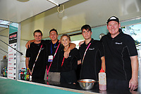 Event staff. Day two of the 2018 HSBC World Sevens Series Hamilton at FMG Stadium in Hamilton, New Zealand on Saturday, 3 February 2018. Photo: Dave Lintott / lintottphoto.co.nz