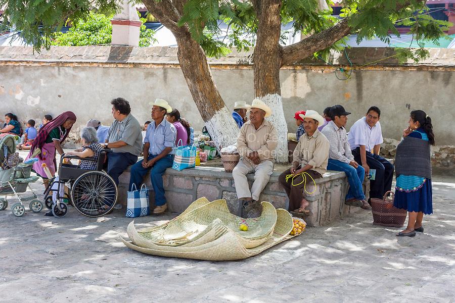 Tlacolula, Oaxaca, Mexico.  Tlacolula Church Plaza.