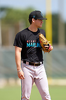 Miami Marlins Jacob Walters (13) during a Minor League Spring Training camp day on April 27, 2021 at Roger Dean Chevrolet Stadium Complex in Jupiter, Fla.  (Mike Janes/Four Seam Images)
