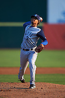 Brooklyn Cyclones pitcher Edioglis Villasmil (3) delivers a pitch during the first game of a doubleheader against the Connecticut Tigers on September 2, 2015 at Senator Thomas J. Dodd Memorial Stadium in Norwich, Connecticut.  Brooklyn defeated Connecticut 7-1.  (Mike Janes/Four Seam Images)