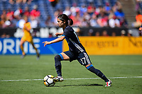 San Diego, CA - Sunday July 30, 2017: Yui Hasegawa during a 2017 Tournament of Nations match between the women's national teams of the Australia (AUS) and Japan (JAP) at Qualcomm Stadium.