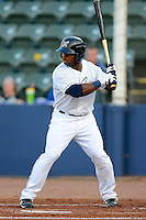 Huntsville Stars outfielder Kentrail Davis #20 during a game against the Tennessee Smokies on April 16, 2013 at Joe W Davis Municipal Stadium in Huntsville, Alabama.  Tennessee defeated Huntsville 4-3.  (Mike Janes/Four Seam Images)