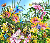 Lori, FLOWERS, BLUMEN, FLORES, paintings+++++Butterflies In the Garden_18.5X16_2014_72,USLS139,#f#, EVERYDAY ,puzzle,puzzles