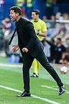 Atletico de Madrid's coach Diego Pablo Cholo Simeone during the match of La Liga Santander between Atletico de Madrid and Deportivo Alaves at Vicente Calderon Stadium. August 21, 2016. (ALTERPHOTOS/Rodrigo Jimenez)