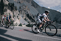 Simon Yates (GBR/Orica-Scott) up the Col d'Izoard (HC/2360m/14.1km/7.3%)<br /> <br /> 104th Tour de France 2017<br /> Stage 18 - Briancon › Izoard (178km)