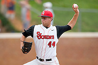 Relief pitcher Kevin Kilpatrick #44 of the St. John's Red Storm in action against the VCU Rams at the Charlottesville Regional of the 2010 College World Series at Davenport Field on June 5, 2010, in Charlottesville, Virginia.  The Red Storm defeated the Rams 8-6.  Photo by Brian Westerholt / Four Seam Images