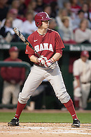 Alabama Crimson Tide infielder Chance Vincent (12) batting at Baum Stadium during the NCAA baseball game against the Arkansas Razorbacks on March 21, 2014 in Fayetteville, Arkansas.  The Alabama Crimson Tide defeated the Arkansas Razorbacks 17-9.  (William Purnell/Four Seam Images)