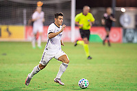 LAKE BUENA VISTA, FL - JULY 14: Anthony Fontana #21 of the Philadelphia Union dribbles the ball during a game between Inter Miami CF and Philadelphia Union at Wide World of Sports on July 14, 2020 in Lake Buena Vista, Florida.