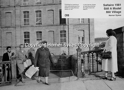Saltaire 1981 Still A Model Mill Village<br /> <br /> PhotoZine published by Cafe Royal Books. Edition of 150. All book shop copies  sold out. I have a 2 COPIES LEFT. Published in 2014. 36 pages, staple bound, A5.<br /> <br /> £35-00 including p&p in UK