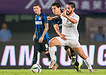 (L) Hernanes of FC Internazionale Milano competes for the balding (R) Isco of Real Madrid CFduring the FC Internazionale Milano vs Real Madrid  as part of the International Champions Cup 2015 at the Tianhe Sports Centre on 27 July 2015 in Guangzhou, China. Photo by Aitor Alcalde / Power Sport Images