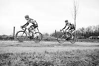 Jurgen Roelandts (BEL/Lotto-Soudal) over the Varent cobbles<br /> <br /> 69th Kuurne-Brussel-Kuurne 2017 (1.HC)