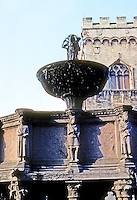 Italy: Perugia--Fontane Maggiore, Detail. Sculptures by Niccola  or Givanni Pisano, late 13th century. Photo '83.