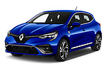 2020 Renault Clio-e-Tech RS-Line 5 Door Hatchback Angular Front automotive stock photos of front three quarter view
