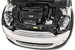 Car Stock 2014 MINI MINI COOPER CLUBVAN 5 Door Wagon 2WD Engine high angle detail view