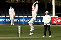 Daniel Lawrence of Essex in bowling action during Essex CCC vs Kent CCC, Friendly Match Cricket at The Cloudfm County Ground on 29th March 2021
