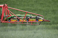 12-5-2021 Spraying fungicide at growth stage T1  <br /> ©Tim Scrivener Photographer 07850 303986<br />      ....Covering Agriculture In The UK....