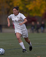 Boston College forward Victoria DiMartino (1) dribbles down the wing. Boston College defeated Marist College, 6-1, in NCAA tournament play at Newton Campus Field, November 13, 2011.