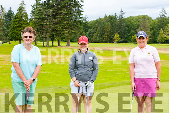 Mary Sheehy Tralee, Mairead Martin Kanturk and Ailish Mulcahy Killarney enjoying a round of golf in Killarney Golf and Fishing club on Sunday