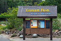 """Crescent Farm, """"Water is Our Crop""""; sustainable demonstation garden; information sign for water farm; Los Angeles County Arboretum and Botanic Garden"""