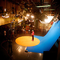 The Kuduru/Kuduro musician and TV presenter Sebem on the set of Kuduru program Sempre a Subir produced by the national channel TPA 1...