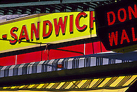 Sandwich sign<br />