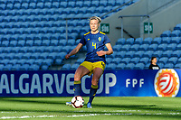 20200304 Faro , Portugal : Swedish Hanna Glas (4) pictured during the female football game between the national teams of Germany and Sweden on the first matchday of the Algarve Cup 2020 , a prestigious friendly womensoccer tournament in Portugal , on wednesday 4 th March 2020 in Faro , Portugal . PHOTO SPORTPIX.BE | STIJN AUDOOREN